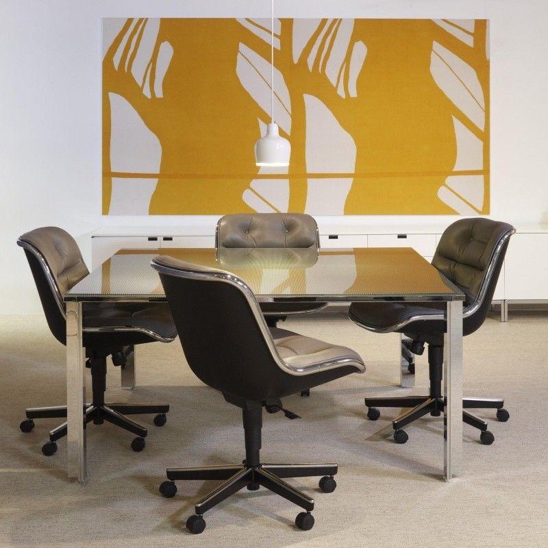 Pollock fauteuil sur roulettes knoll international - Chaise de bureau knoll ...