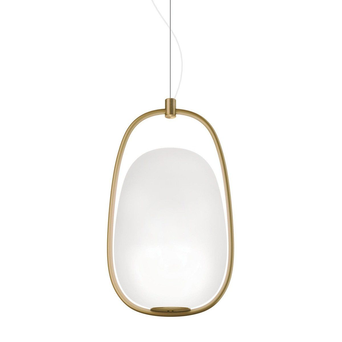 Kundalini - Lannà Suspension L& - brass/white/canopy ...  sc 1 st  AmbienteDirect & Lannà Suspension Lamp | Kundalini | AmbienteDirect.com