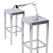 EMECO - Set Emeco 2 Barstools + 1 Tolomeo Micro Chrom - aluminium/gebürstet/2x Barstuhl + 1x Tischleuchte