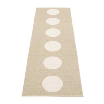 pappelina - Vera Teppich 70x225cm - beige/vanille/wendbar/gewebt/Kante geschweißt/für Innen- und Außenbereich geeignet