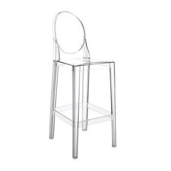 Kartell - One More Barhocker 75cm - glasklar/transparent