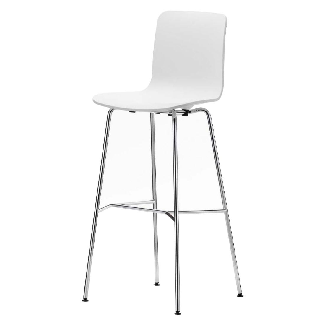 Vitra Hal Stool High Bar White Frame