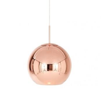 Tom Dixon - Copper Round Pendelleuchte - kupfer/glänzend/Ø 45cm/Nachfolgemodell der Copper Shade Kupfer