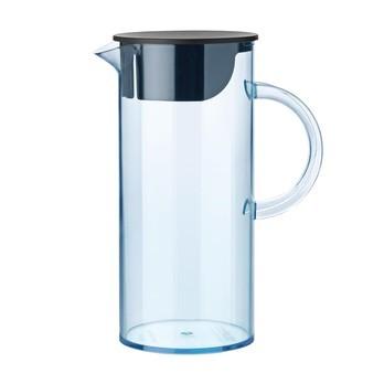 Stelton - EM Water Jug With Lid - blue/transparent/1.5L/WxH 18x22cm/Ø11cm