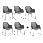 Cane-Line - Promo Set Breeze Ourdoor Chair with Skids 5+1