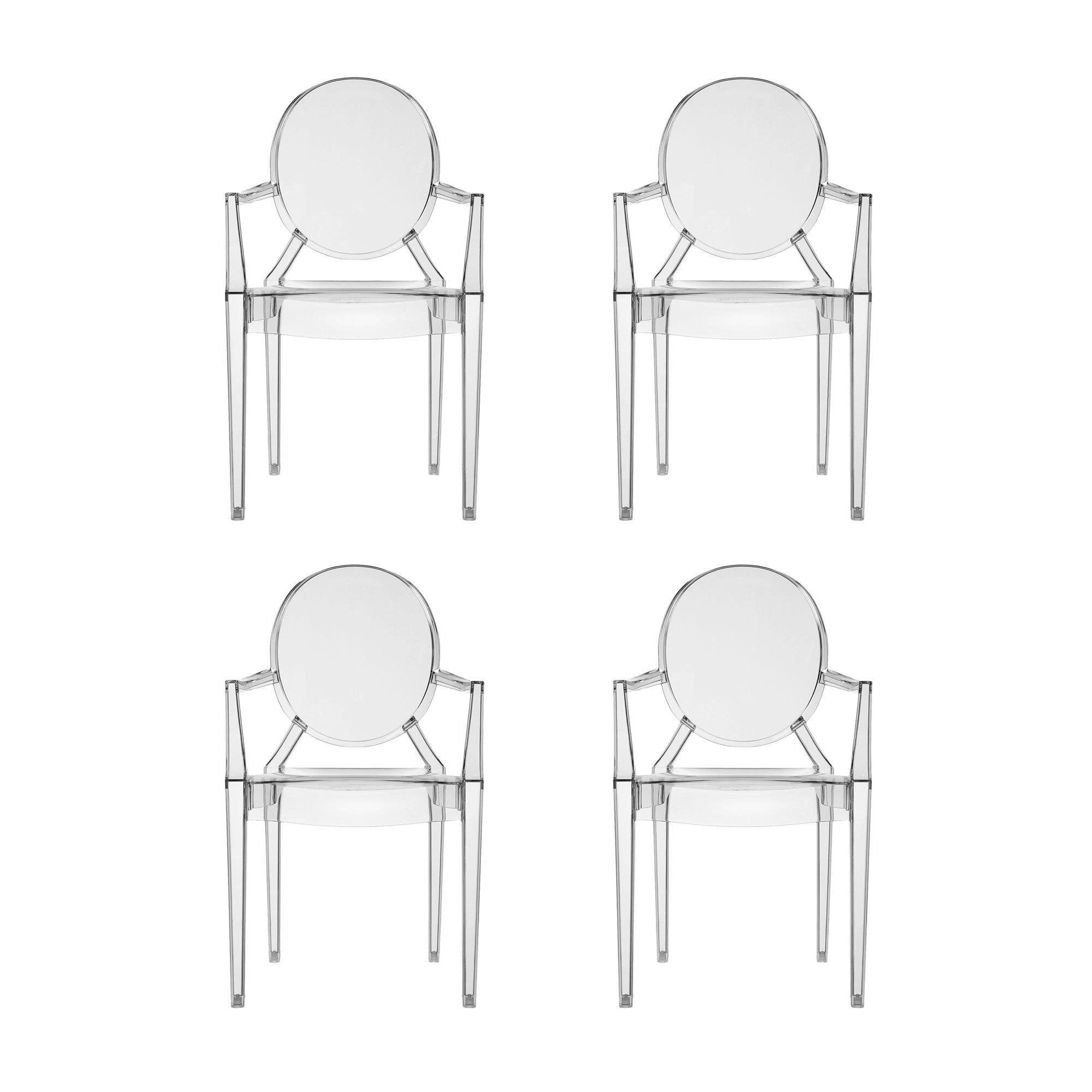 Louis Ghost Armchair Set Of 4 | Kartell | AmbienteDirect.com