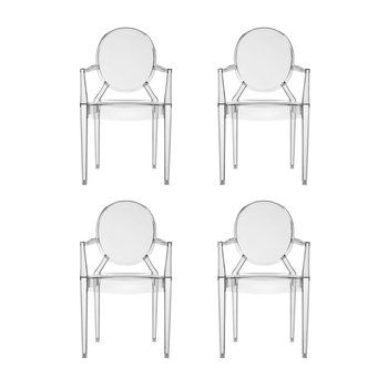 Kartell Louis Ghost Armchair Set Of 4 | AmbienteDirect