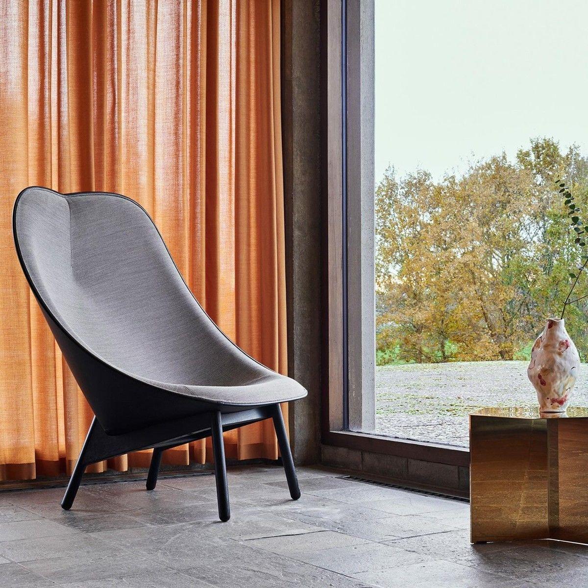uchiwa lounge sessel gestell schwarz hay. Black Bedroom Furniture Sets. Home Design Ideas