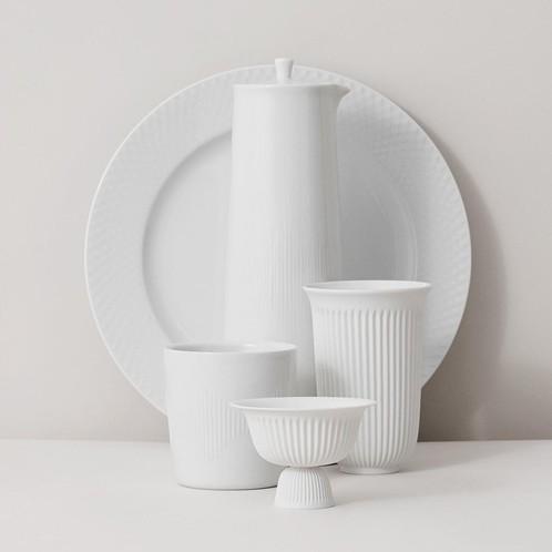 Lyngby Porcelæn - Rhombe Speiseteller 4er Set Ø27cm