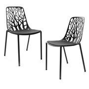 Fast - Forest - 2 sillas de jardín con cojines