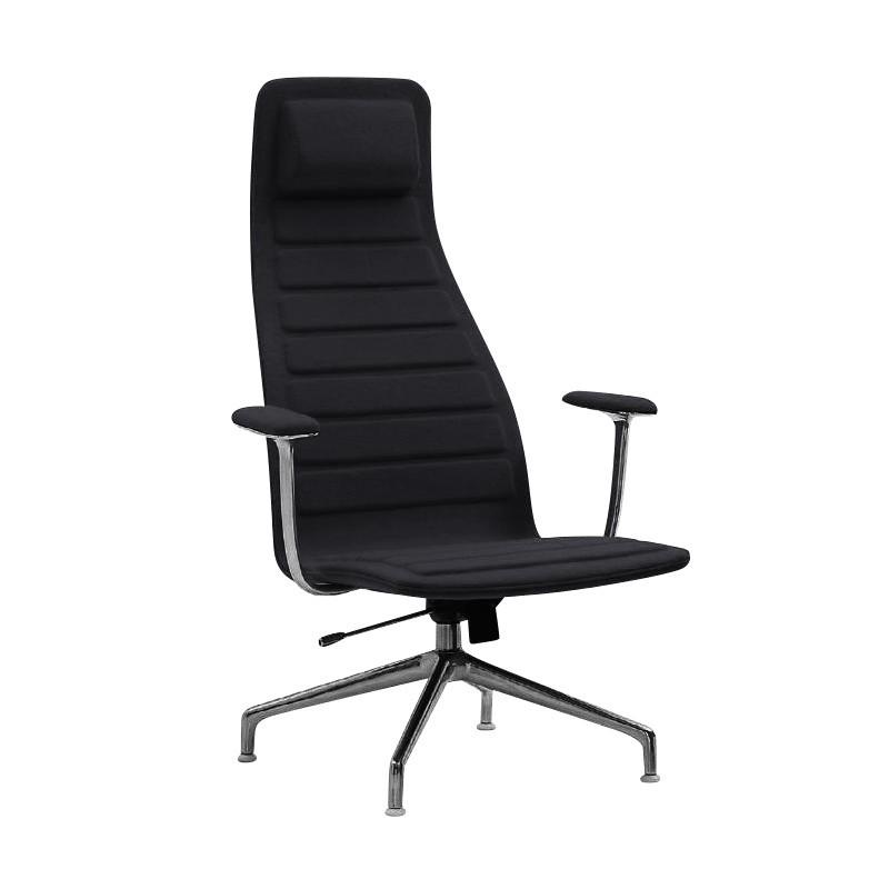 Cellini Lotus High Office Chair Black Textile