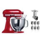 KitchenAid - Artisan Classic Set - rot/lackiert/Inkl. Zubehör: MVSA+EMVSC