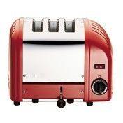 Dualit - Vario Toaster 3 Scheiben - rot/Edelstahl