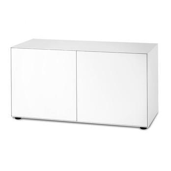 Piure - Nex Pur Box Türbox 120x77.5x48cm - weiß/MDF matt lackiert/mit Gleitfüße/1 Fachboden/inkl. Verstärkungsschiene, einstellbar 2 cm