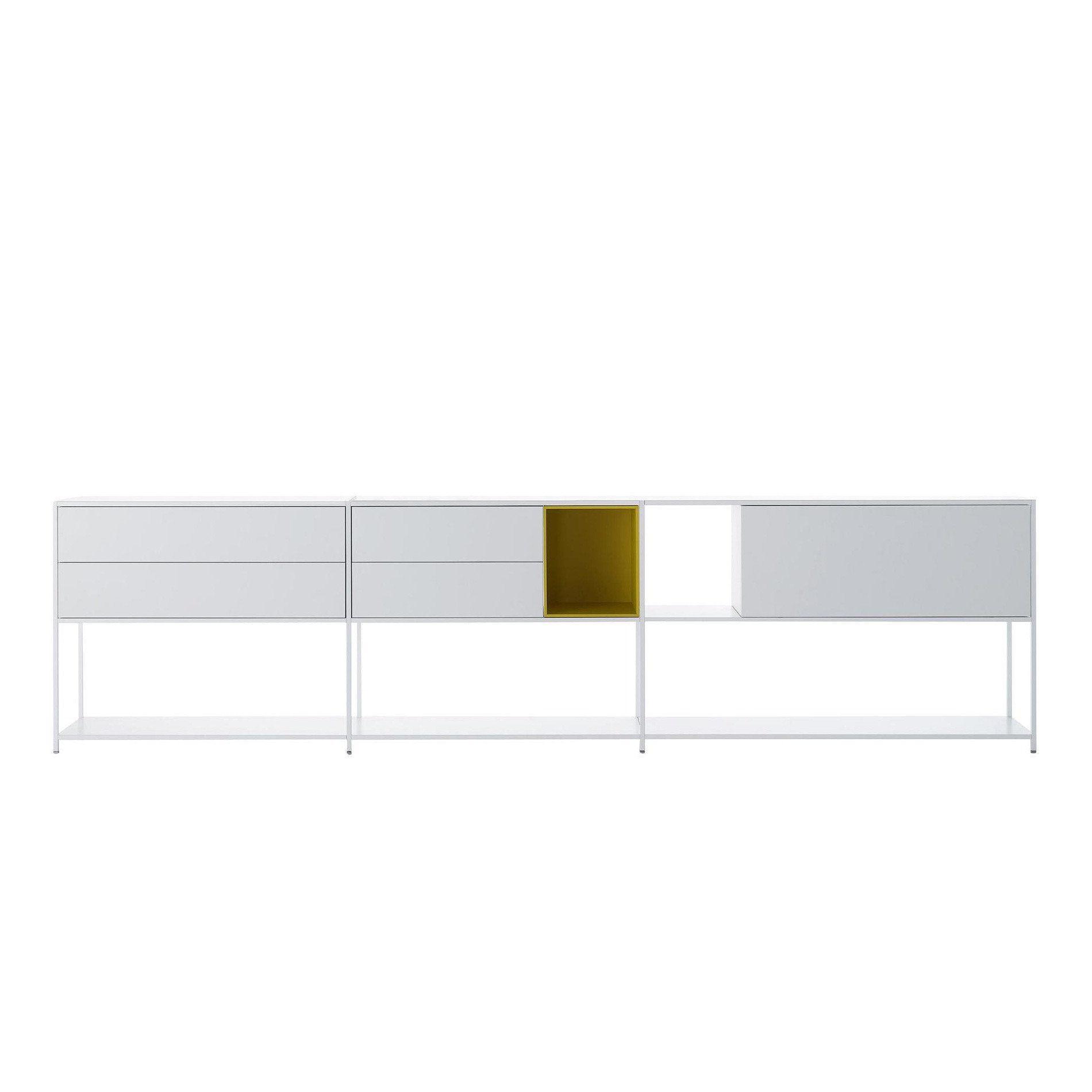 mdf italia minima 3 0 sideboard 306x33x79cm ambientedirect. Black Bedroom Furniture Sets. Home Design Ideas
