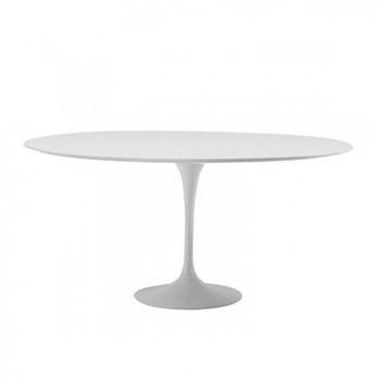 Knoll International - Saarinen Tisch Ø137cm - weiß/Laminat/Gestell weiß