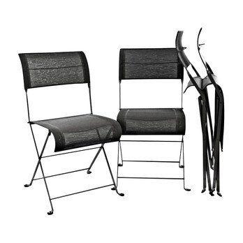 Fermob - Dune Folding Chair 4-piece Set - liquorice black/lacquered/4 pieces