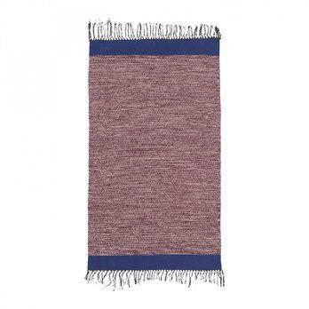 ferm LIVING - ferm LIVING Melange Teppich 8224 - rosa/blau/handgewebt/waschbar bei 40°C/LxB 100x60cm