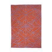 Nanimarquina - African House Neuseeland Wollteppich - violett/rot/Neuseeland-Wolle/200x300cm
