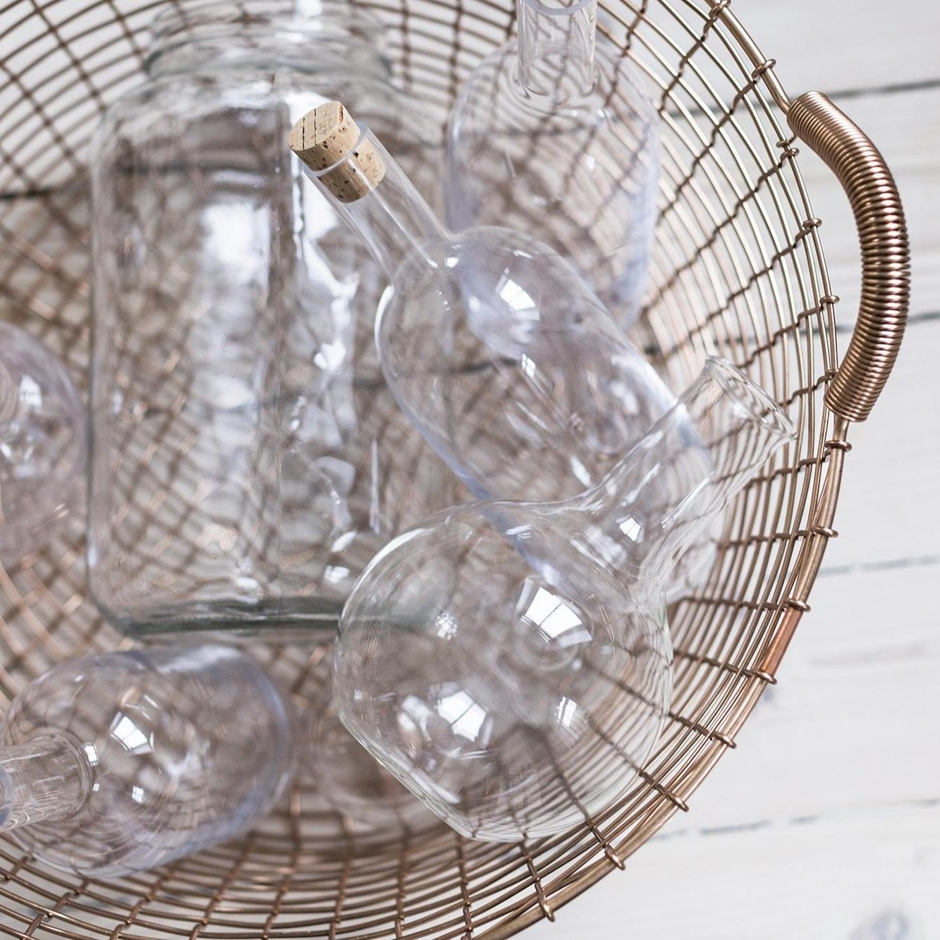 Korbo Classic 35 Copper Wire Basket   AmbienteDirect