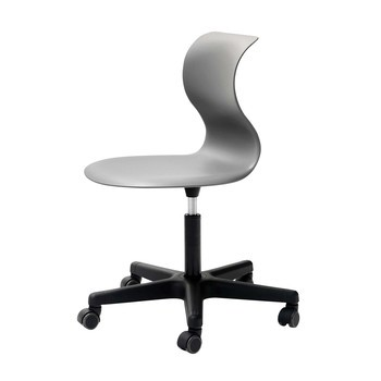 Flötotto - Pro 6 Swivel Chair with wheels - grey/frame black polyamide/seat height/adjustable 42 - 55cm