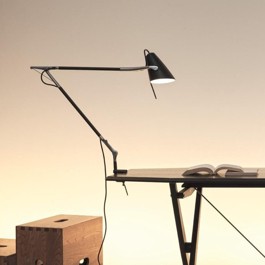 nemo leo on off inc desk lamp with table clamp black delivery. Black Bedroom Furniture Sets. Home Design Ideas