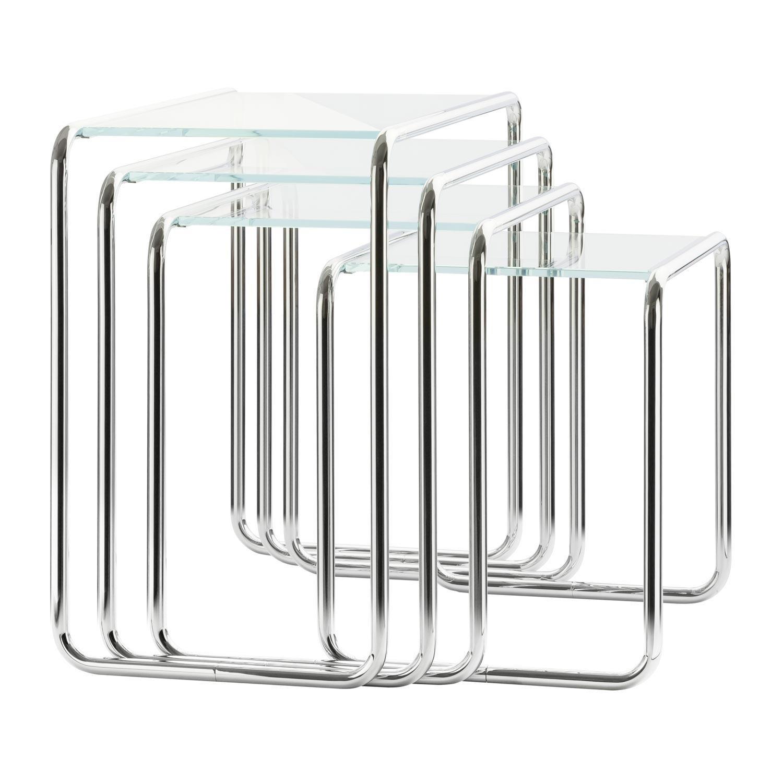 Thonet B9 Beistelltisch Glas Ambientedirect