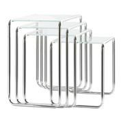 Thonet - Thonet B9 Set Beistelltische Glas