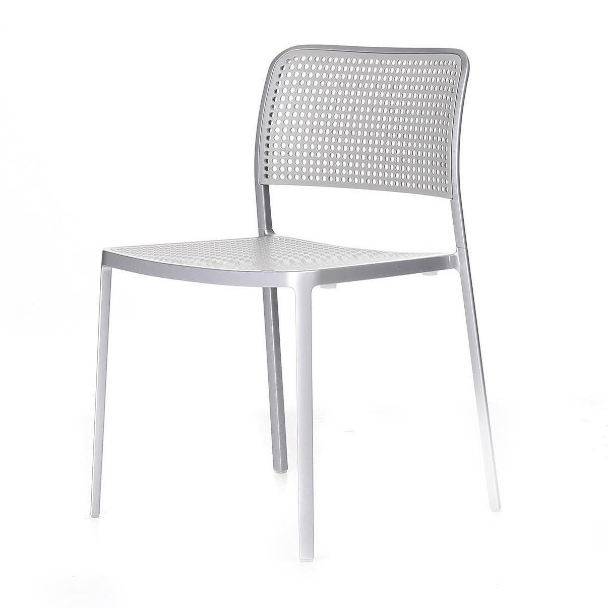 Kartell   Audrey Chair   Light Grey/frame Aluminium