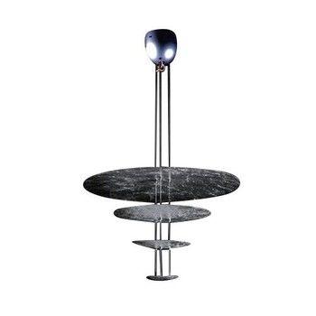 Catellani & Smith - Macchina Della Luce A LED Pendelleuchte - silber/Nickel Stäbe/2600K-2800K/4410lm/CRI80/Scheiben Ø80/50/30/18cm/inkl. Dimmer