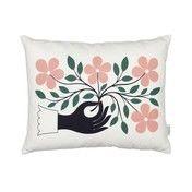 Vitra - Graphic Print Pillow Hand Kissen 40x30cm - weiß/rosa/grün/schwarz