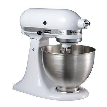 KitchenAid - KitchenAid Classic 5K45SS Küchenmaschine - weiß/Metall/275W