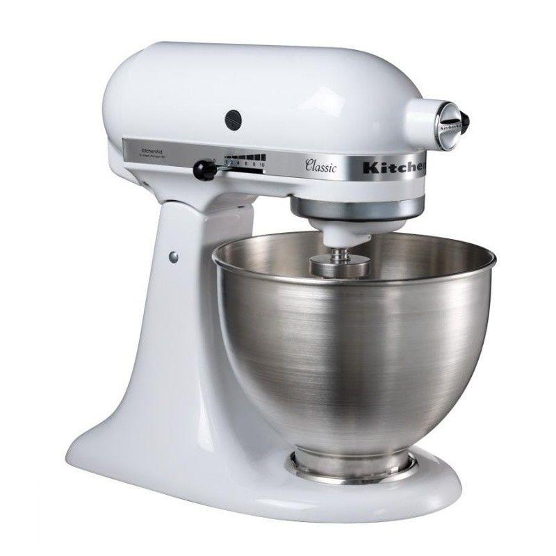 KitchenAid   KitchenAid Classic 5K45SS Food Mixer   White/metal/275W