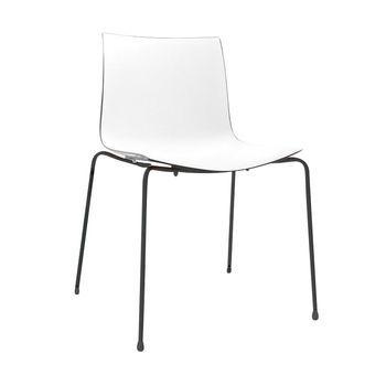 catifa 46 0251 chair bicoloured frame black arper. Black Bedroom Furniture Sets. Home Design Ideas