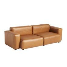 HAY - Mags Soft 2,5-Sitzer Sofa Armlehne niedrig Leder