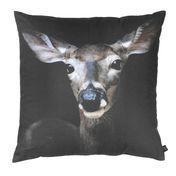 by nord - Deer Close-up Cushion 60x60cm - brown/black/washable at 30 °/incl. feather filling