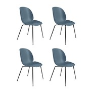 Gubi - Set de 4 chaise structure noir Beetle Dining Chair