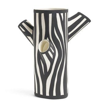 HAY - Tree Trunk Vase M - weiß/schwarz/H 30cm