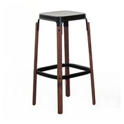 Magis - Steelwood - Tabouret de bar structure noyer