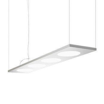 Foscarini - Dolmen LED Pendelleuchte - aluminium/eloxiert/dimmbar/2700K/6486lm/CRI>90/LxBxH 180x40x4cm/Abhängungslänge 340cm