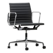 Vitra - EA 117 Aluminium Chair Bürostuhl poliert Leder