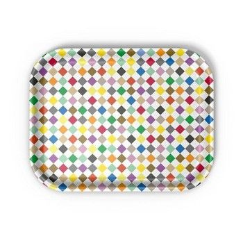 Vitra - Classic Tray Diamonds Multicolour Tablett - mehrfarbig/LxBxH 36x28x2cm