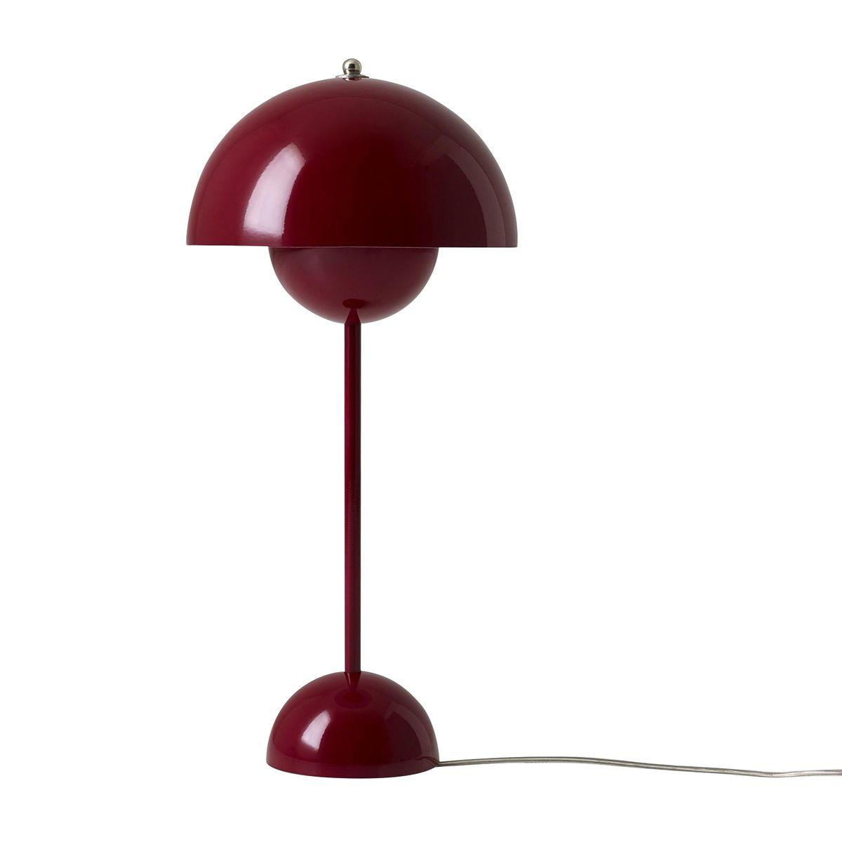 flower pot vp table lamp  andtradition  ambientedirectcom - andtradition  flower pot vp table lamp  deep redh x Øcm