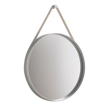HAY - Strap Mirror Spiegel - grau/Ø 70cm