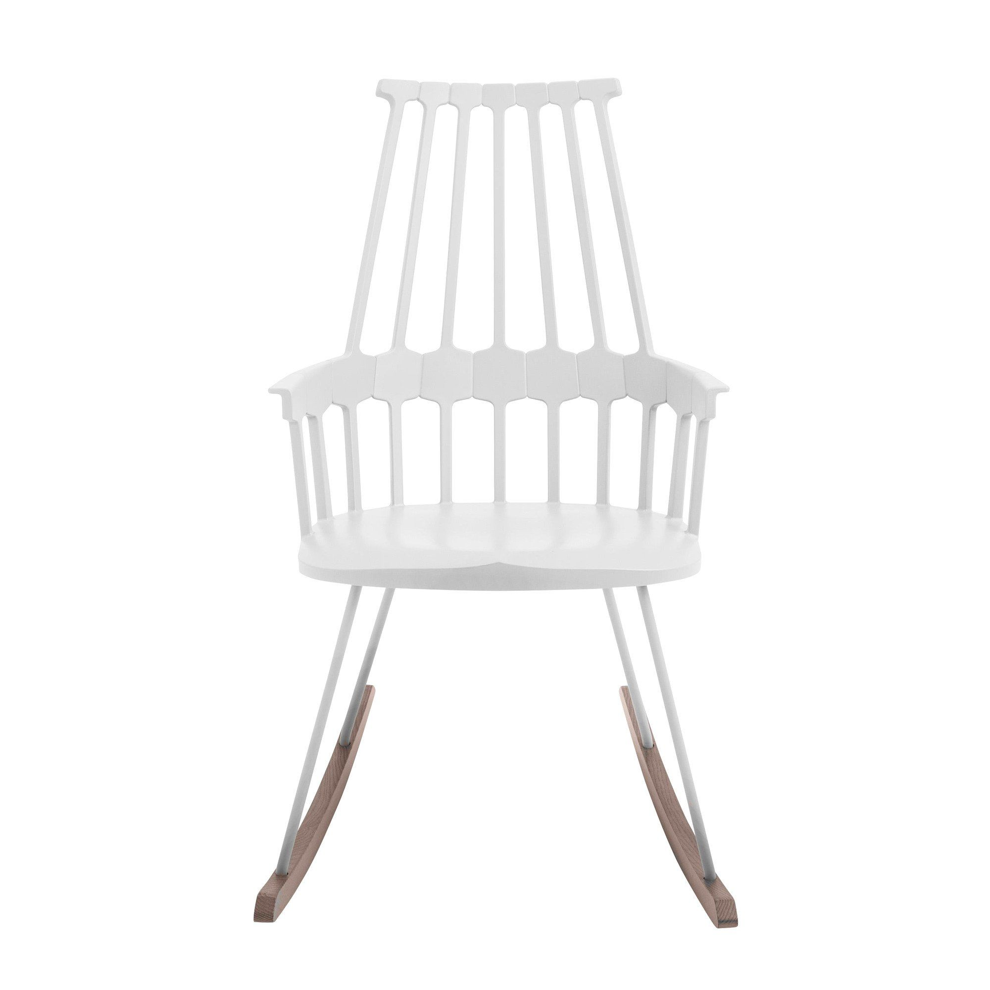 Kartell   Comback Rocking Chair   White/sled Ash Tree Stained ...