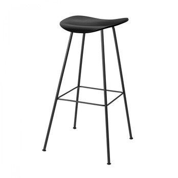 Gubi - Gubi 2D Counter Stool Barhocker - schwarz/Sitzfläche Birke/BxHxT 42x68x41cm/Gestell schwarz