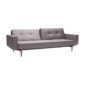 Fine Splitback Styletto Sofa Bed With Armrests Dark Wood Home Remodeling Inspirations Gresiscottssportslandcom