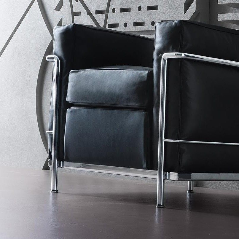 Le Corbusier Lc2 : Le corbusier lc fauteuil cassina ambientedirect