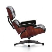 Vitra - Eames Lounge Chair draaifauteuil leer