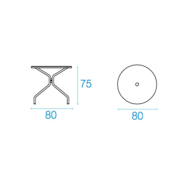 emu Solid - Table de jardin Ø80cm | AmbienteDirect